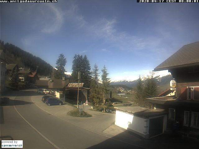 Paragliding Fluggebiet Europa Schweiz Graubünden,Breil-Brigels,Surcuolm Dorfplatz